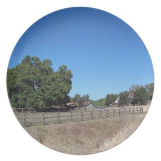 Plate: Small Farm in Paso Robles, California Dinner Plate
