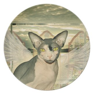 Plate | Sphynx Cat Angel