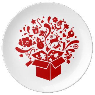 Plate spirit celebrates Christmas