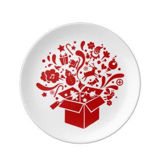 Plate spirit celebrates of Christmas