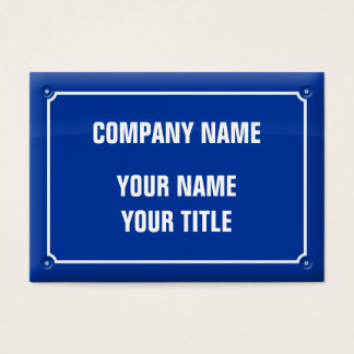 plate street - FRANCE Business Card