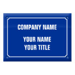 plate street - FRANCE Large Business Card