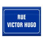 plate street - Victor Hugo - FRANCE Postcard