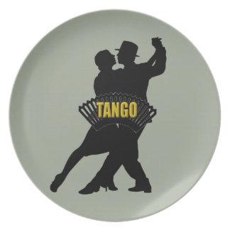 Plate tango bandoneon