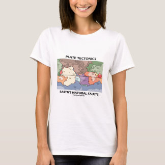 Plate Tectonics Earth's Natural Faults (World Map) T-Shirt