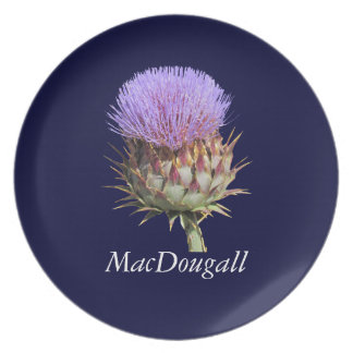 Plate - Thistle with Name