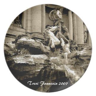 Plate - Trevi Fountain (sepia)