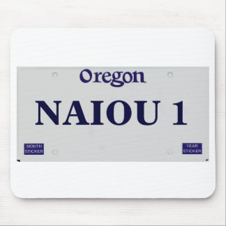 plate_vet_rec_blank, NAIOU 1 Mouse Pad