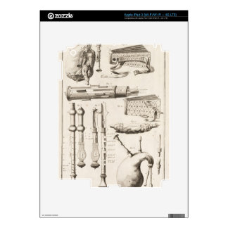 Plate VI: Wind instruments from the Encyclopedia o Decals For iPad 3