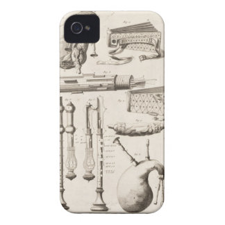 Plate VI: Wind instruments from the Encyclopedia o iPhone 4 Cover