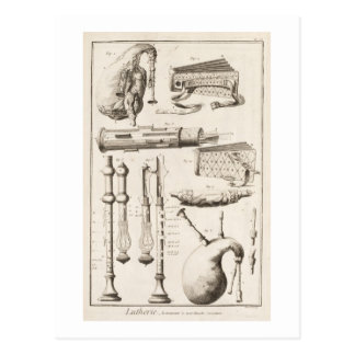 Plate VI: Wind instruments from the Encyclopedia o Postcard