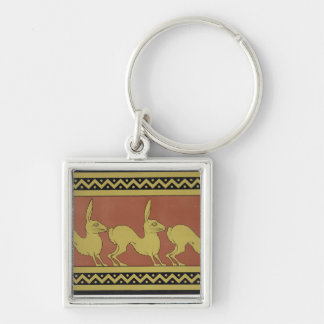 Plate VII from 'Studies in Design', c.1874-76 (lit Silver-Colored Square Keychain