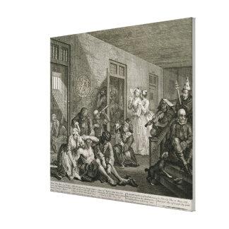 Plate VIII from A Rake's Progress, 1735 Canvas Print