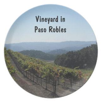 Plate: Vineyard Scene in Paso Robles in Autumn
