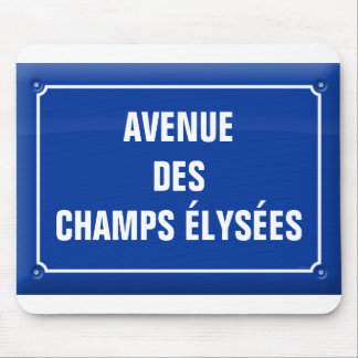 plate which occurred Champs Elysées - FRANCE Mouse Pad
