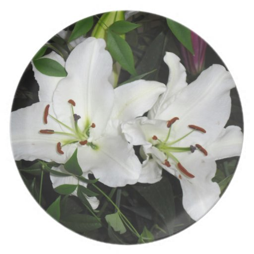Plate, White Lilies Plate