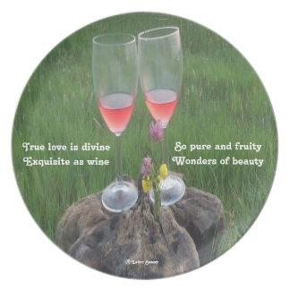 Plate Wine Poem By Ladee Basset