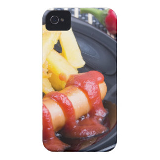 Plate with a portion of fried potatoes iPhone 4 cover
