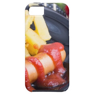 Plate with a portion of fried potatoes iPhone SE/5/5s case