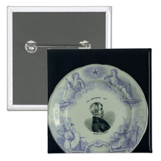 Plate with a portrait of Alexandre Brongniart Button