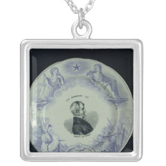 Plate with a portrait of Alexandre Brongniart Silver Plated Necklace