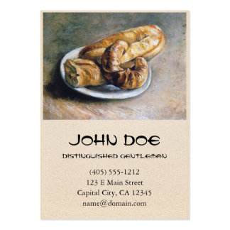 Plate with Bread by Vincent Van Gogh Large Business Cards (Pack Of 100)