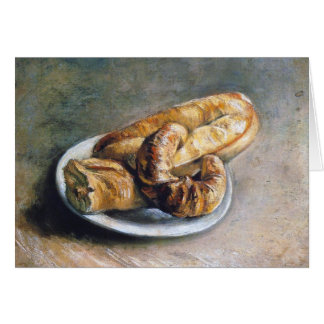 Plate with Bread by Vincent Van Gogh Card