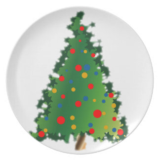 Plate with Christmas Tree Decoration