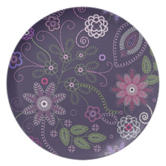 Plate with floral ornament