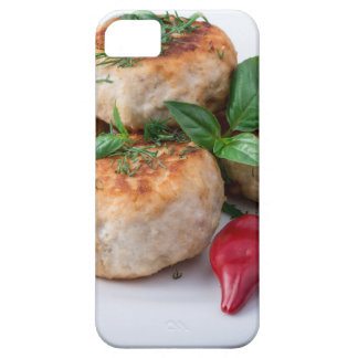 Plate with fried meatballs minced chicken iPhone SE/5/5s case