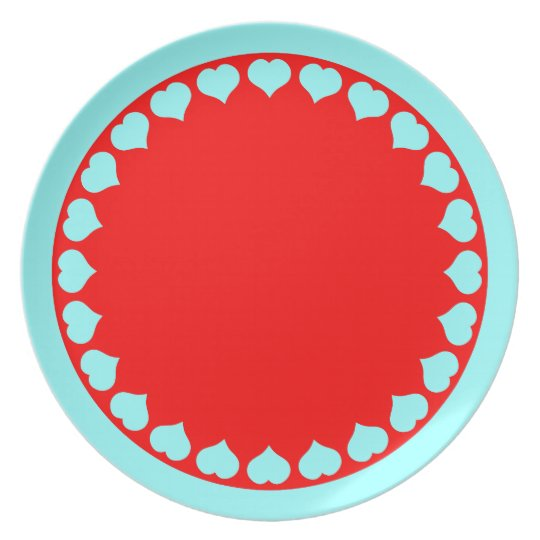 Plate with Heart Shaped Border