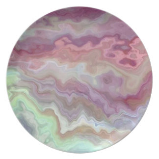 Plate with marble patterns