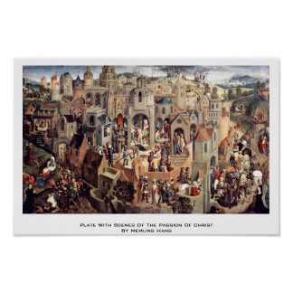 Plate With Scenes Of The Passion Of Christ Print