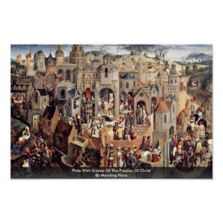 Plate With Scenes Of The Passion Of Christ Poster