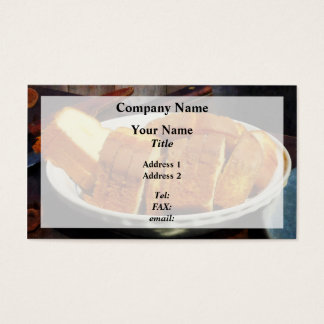 Plate With Sliced Bread and Knives Business Card