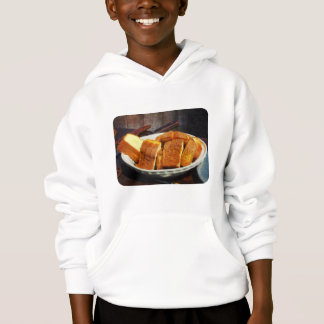 Plate With Sliced Bread and Knives Hoodie