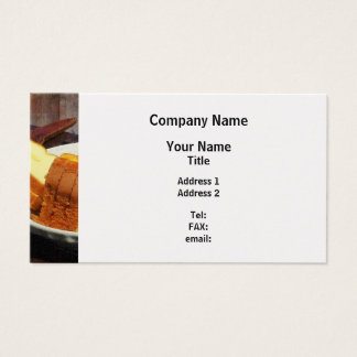 Plate With Sliced Bread and Knives - Platinum Business Card
