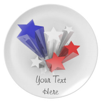 Plate with stars