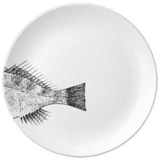 Plate with tail of cabracho