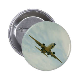 Plate with vintage airplane 2 inch round button