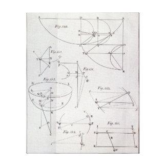 Plate XIX, Illustrating Proposition LXV Canvas Print