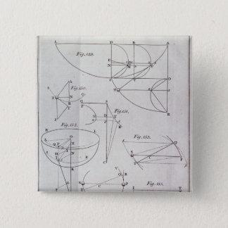 Plate XIX, Illustrating Proposition LXV Pinback Button