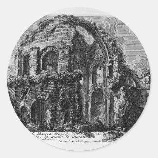 Plate XVI. Temple of Minerva Medica. by Giovanni Classic Round Sticker
