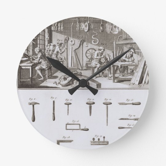 Plate XVIII: The instrument maker's workshop and t Round Clock