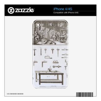 Plate XVIII: The instrument maker's workshop and t Skin For The iPhone 4