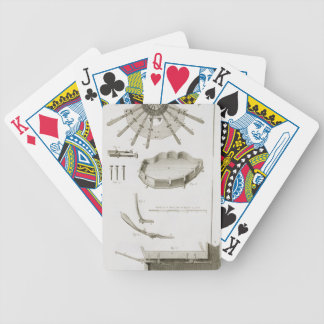 Plate XX: The spread and workings of the pedals in Bicycle Playing Cards