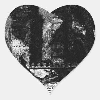 Plate XXXIV by Giovanni Battista Piranesi Heart Sticker