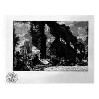 Plate XXXIV by Giovanni Battista Piranesi Postcard