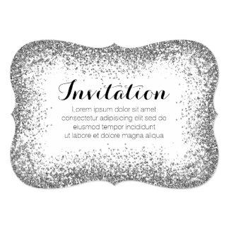 Plateado asperje la invitación de la ilusión