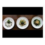 Plated food post card